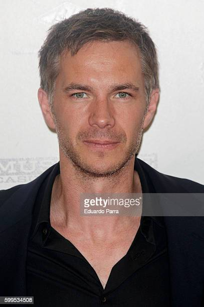 Actor James D'arcy attends the 'Gernika' premiere at Palafox cinema on September 5, 2016 in Madrid, Spain.