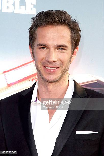 """Actor James D'Arcy attends the """"Let's Be Cops"""" Los Angeles Premiere held at the ArcLight Hollywood on August 7, 2014 in Hollywood, California."""