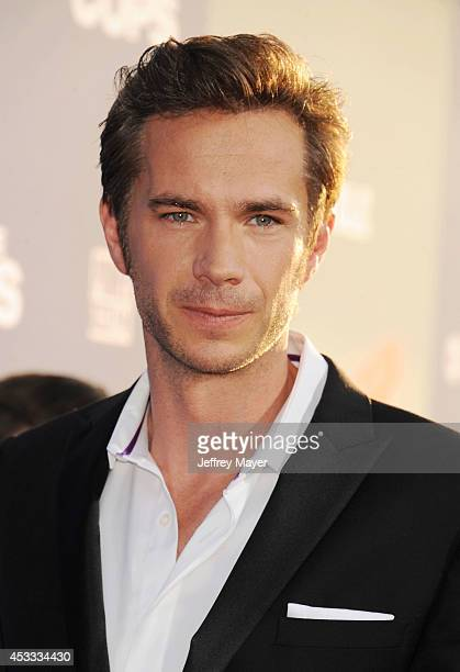 Actor James D'Arcy attends the 'Let's Be Cops' Los Angeles Premiere held at the ArcLight Hollywood on August 7 2014 in Hollywood California