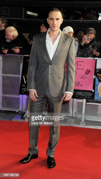 Actor James D'Arcy attends the UK premiere of 'W.E.' at Kensington Odeon on January 11, 2012 in London, England.