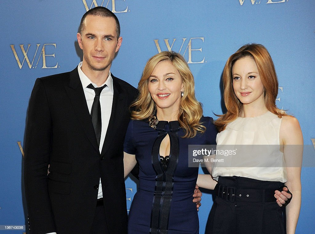 Actor James D'Arcy, writer/director Madonna and actress Andrea Riseborough attend a photocall to promote the new film 'W.E.' on January 11, 2012 in London, United Kingdom.