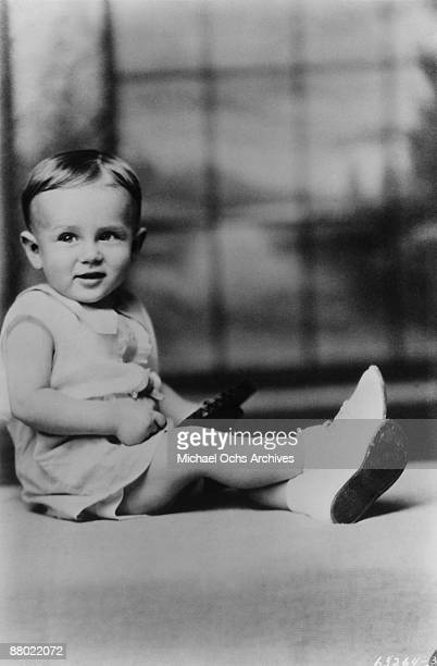 Actor James Dean as a child in 1932 in Marion Indiana