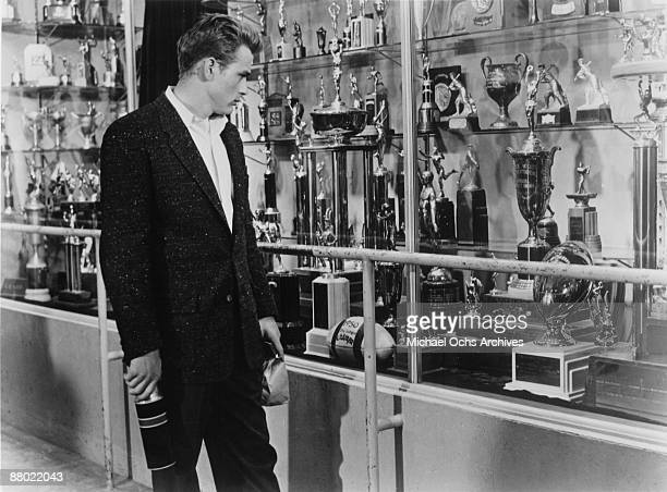 Actor James Dean in a scene from the Warner Bros film 'Rebel Without A Cause' in 1955 in Los Angeles California