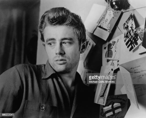 Actor James Dean poses for a photo in December 1954 in Los Angeles California