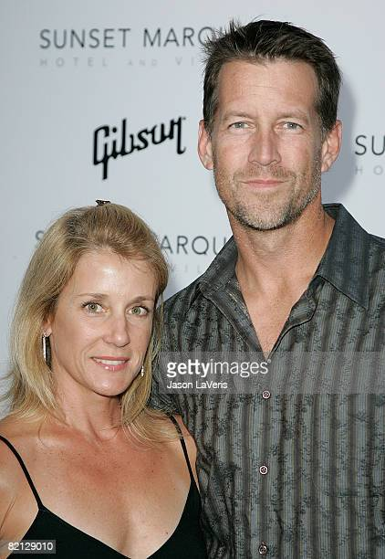 Actor James Denton and Erin O'Brien Denton attend the Gibson Through The Lens Photo Exhibition at Sunset Marquis Hotel and Villas on July 30, 2008 in...