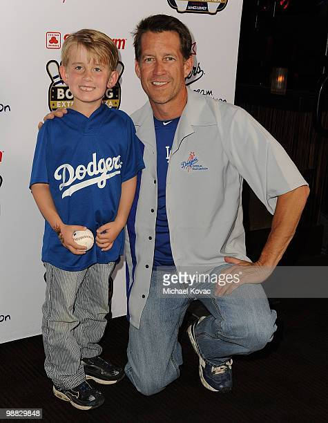 Actor James Denton and his son Sheppard attend the 6th Annual State Farm Dodgers Dream Foundation Bowling Extravaganza at Lucky Strike Lanes at LA...