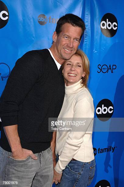 Actor James Denton and his wife actress Erin O'Brien pose for a picture at the Disney/ABC Television Group All Star Party held at the Ritz Carlton...