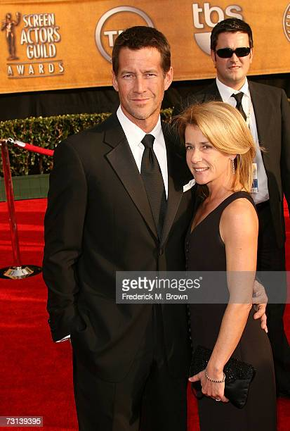 Actor James Denton and his wife Erin O'Brien arrive at the 13th Annual Screen Actors Guild Awards held at the Shrine Auditorium on January 28 2007 in...