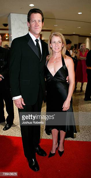 Actor James Denton and his wife Erin O'Brien arrive at the White House Correspondents' Association Dinner in April 21 2007 in Washington DC