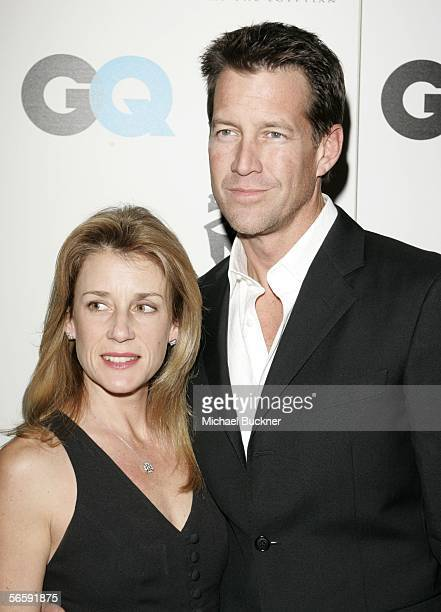 Actor James Denton and wife Erin arrive at the GQ/American Cinematheque PreGolden Globe Party at the Regent Beverly Wilshire on January 13 2006 in...