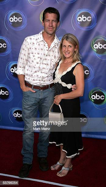 Actor James Denton and wife Erin O'Brien arrive at the ABC TCA party at the Abby on July 27, 2005 in West Hollywood, California.