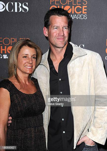 Actor James Denton and wife Erin O'Brien arrive at the People's Choice Awards 2010 held at Nokia Theatre LA Live on January 6 2010 in Los Angeles...