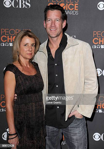 Actor James Denton and wife Erin O'Brien arrives at the People's Choice Awards 2010 held at Nokia Theatre LA Live on January 6 2010 in Los Angeles...