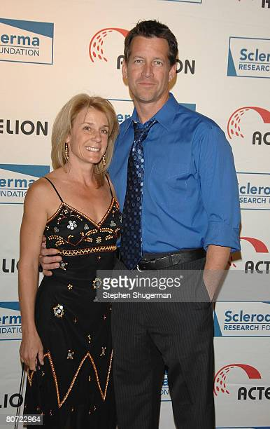 Actor James Denton and wife Erin O'Brien attend Cool Comedy Hot Cuisine Benefit Gala at the Four Seasons Beverly Wilshire on April 16 2008 in Beverly...
