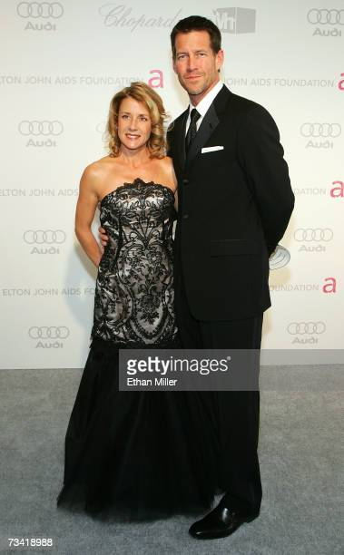 Actor James Denton and wife Erin O'Brien Denton arrive at the 15th Annual Elton John AIDS Foundation Academy Awards viewing party held at the Pacific...