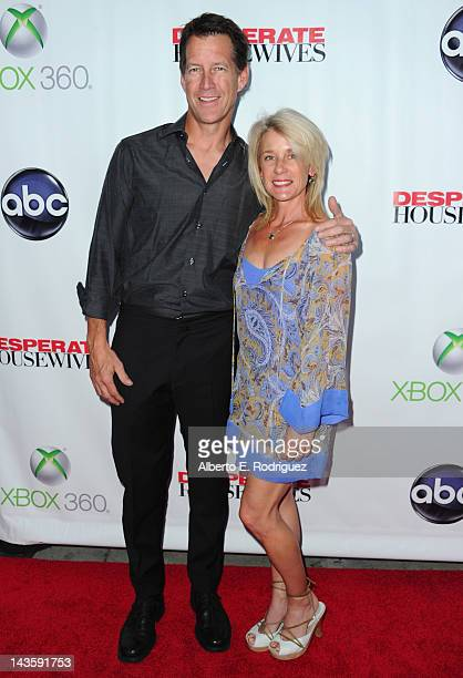 Actor James Denton and wife Erin O'Brien Denton arrive to the Series Finale of ABC's Desperate Housewives at W Hollywood on April 29 2012 in...