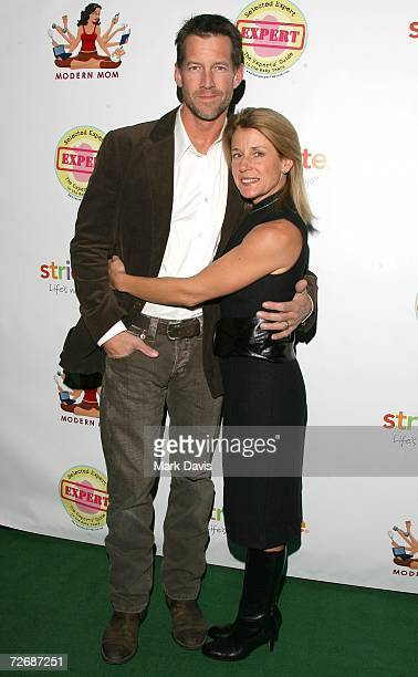 Actor James Denton and wife Erin O'Brien pose for photographers at the Modern Mom Mingle held at the Mondrian hotels' SkyBar on November 30 2006 in...