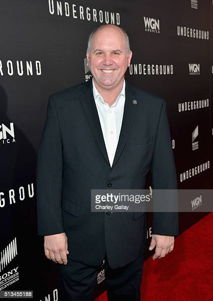 Actor James Dumont attends WGN America's 'Underground' World Premiere on March 2 2016 in Los Angeles California