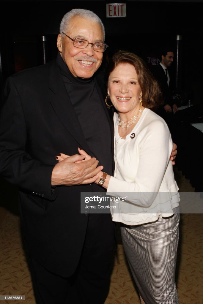 Actor James Earl Jones and Linda Lavin attend the 2012 Tony Awards - Meet The Nominees Press Reception at Millennium Broadway Hotel on May 2, 2012 in New York City.