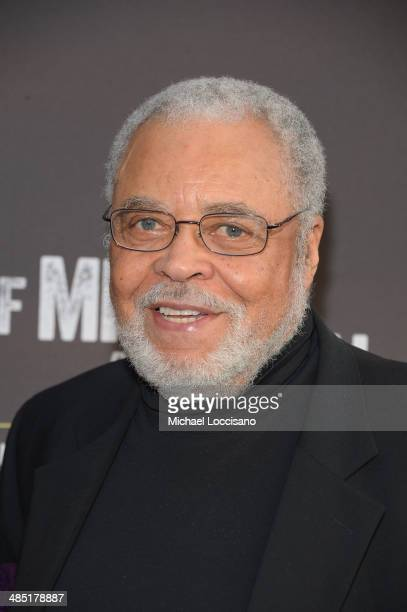 Actor James Earl Jones attends the Broadway opening night for Of Mice and Men at Longacre Theatre on April 16 2014 in New York City