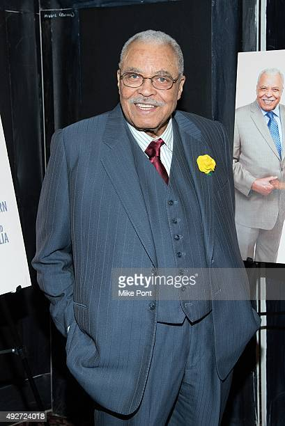 Actor James Earl Jones attends The Gin Game Broadway opening night after party at Sardi's on October 14 2015 in New York City