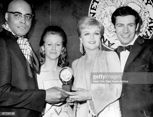 Actor James Earl Jones Julie Harris Angela Lansbury and Jerry Orbach at the Tony Awards