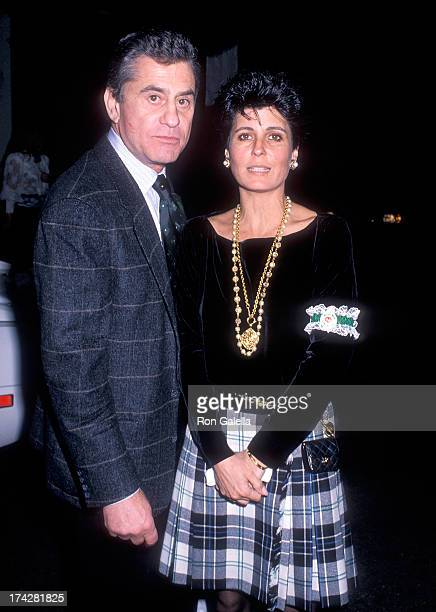 Actor James Farentino and Tina Sinatra attend Amanda Lambert's 14th Birthday Party on March 17, 1990 at Jimmy's Restaurant in Beverly Hills,...
