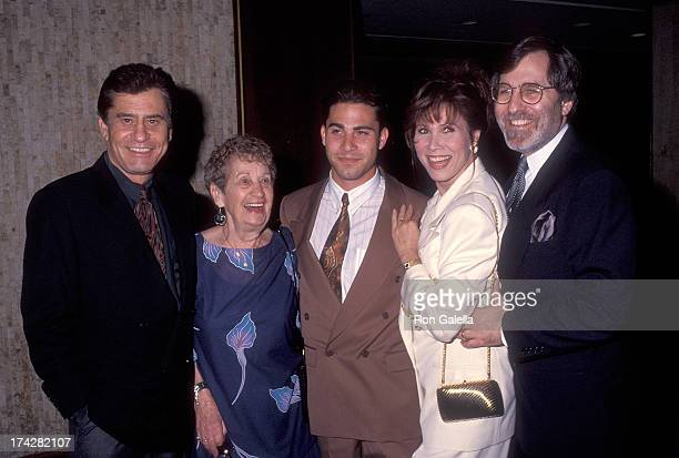 Actor James Farentino mother Helen Ferrantino his son David actress Michele Lee and husband Fred A Rappoport attend the Los Angeles County Chapter of...