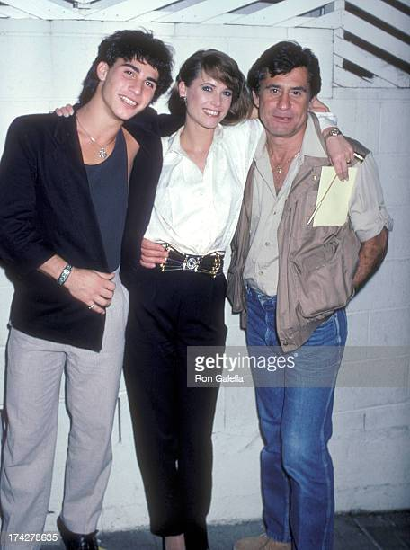 Actor James Farentino wife Debrah and his son David on February 23 1986 dine at Spago in West Hollywood California