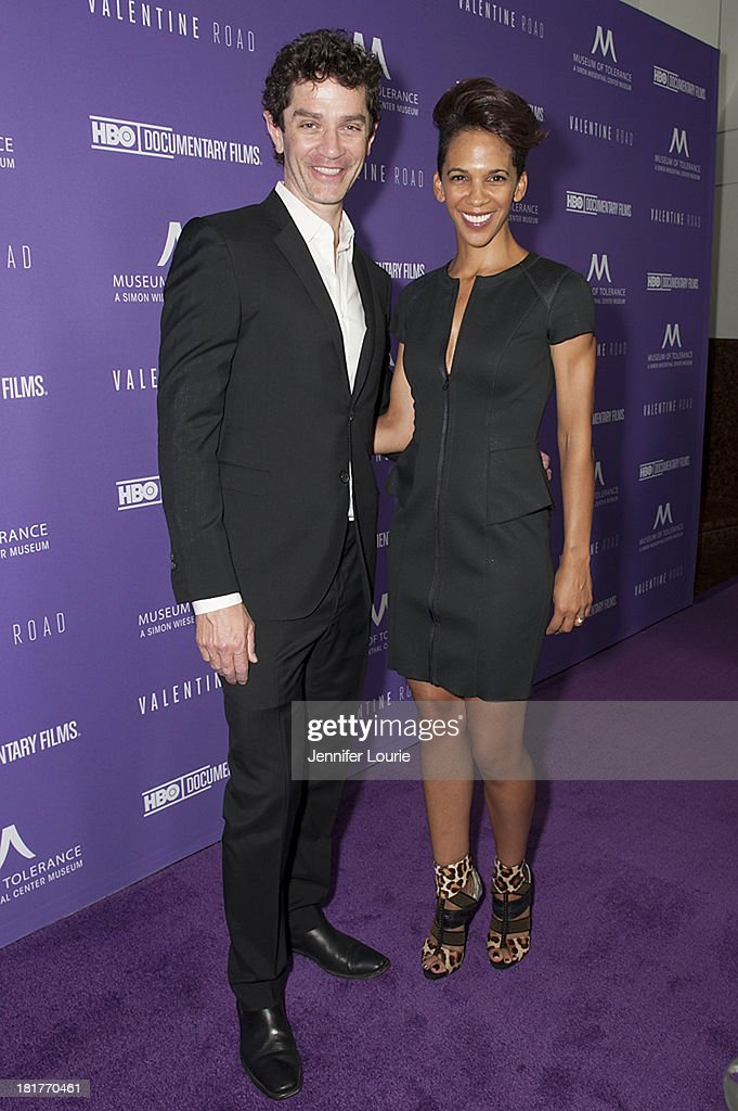 Actor James Frain and director Marta Cunningham attends the Los Angeles premiere screening of 'Valentine Road' at The Museum of Tolerance on September 24, 2013 in Los Angeles, California.