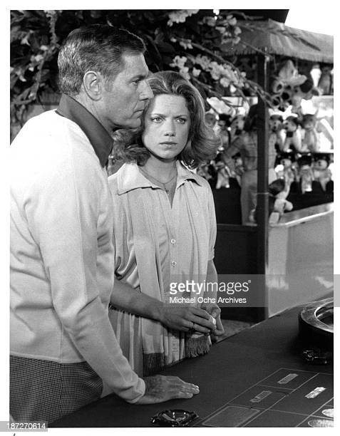 Actor James Franciscus and actress Gretchen Corbett on set of the movie Secrets of Three Hungry Wives in 1978