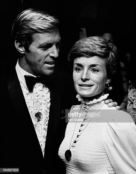 Actor James Franciscus and wife Kathleen Wellman attend the premiere party for Jonathan Livingston Seagull on October 23 1973 at the Waldorf Astoria...
