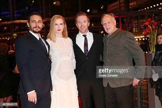 Actor James Franco actress Nicole Kidman actor Damian Lewis and director Werner Herzog attend the 'Queen of the Desert' premiere during the 65th...