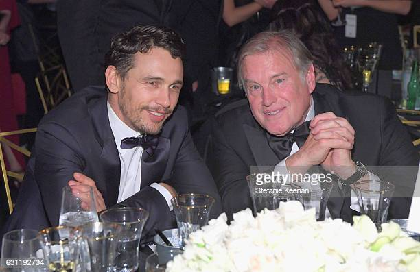 Actor James Franco and chairman of the board The Art of Elysium Tim Headington attend The Art of Elysium presents Stevie Wonder's HEAVEN Celebrating...