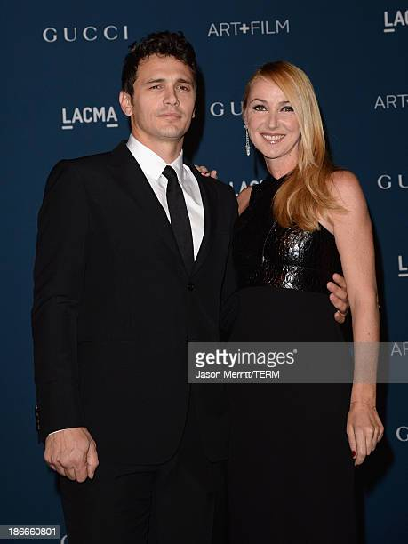 Actor James Franco and Creative Director of Gucci Frida Giannini, wearing Gucci, attend the LACMA 2013 Art + Film Gala honoring Martin Scorsese and...