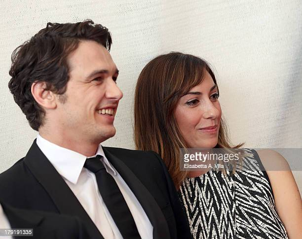 Actor James Franco and director Gia Coppola attend the 'Palo Alto' Photocall during the 70th Venice International Film Festival at the Palazzo del...