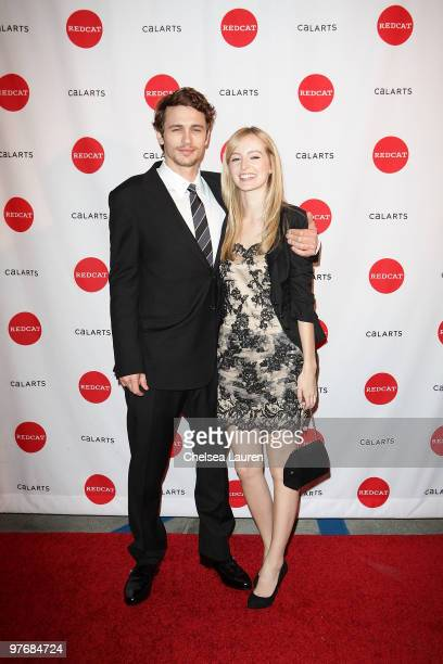 Actor James Franco and girlfriend Ahna O'Reilly arrives at REDCAT's 2010 Gala on March 13 2010 in Los Angeles California