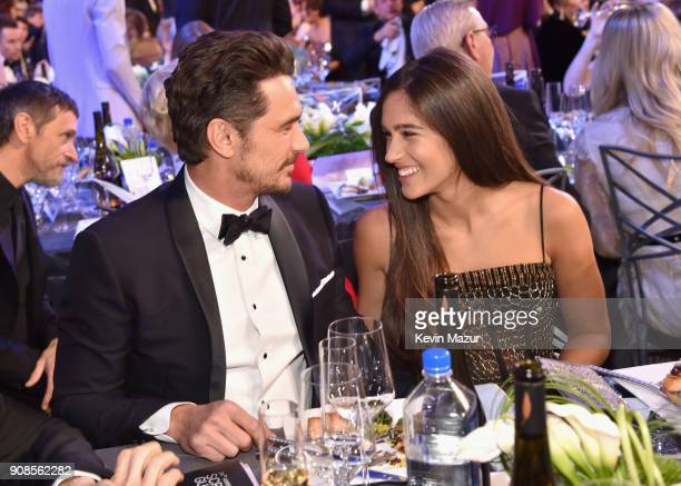 Actor James Franco and Isabel Pakzad attend the 24th Annual Screen Actors Guild Awards at The Shrine Auditorium on January 21 2018 in Los Angeles...