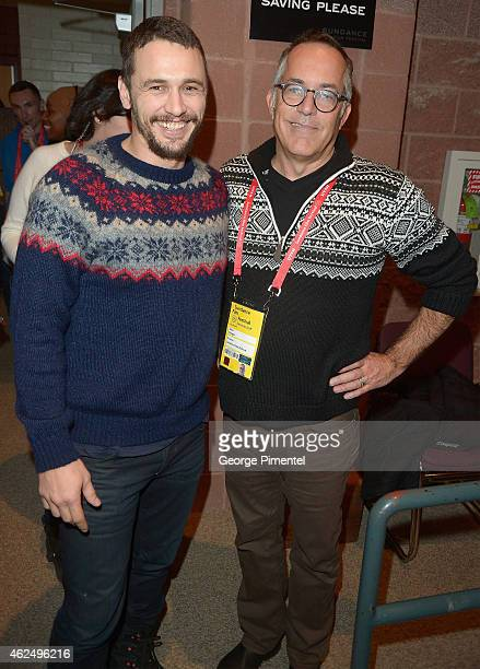 Actor James Franco and Sundance Film Festival Director John Cooper attend the 'I Am Michael' Premiere during the 2015 Sundance Film Festival on...