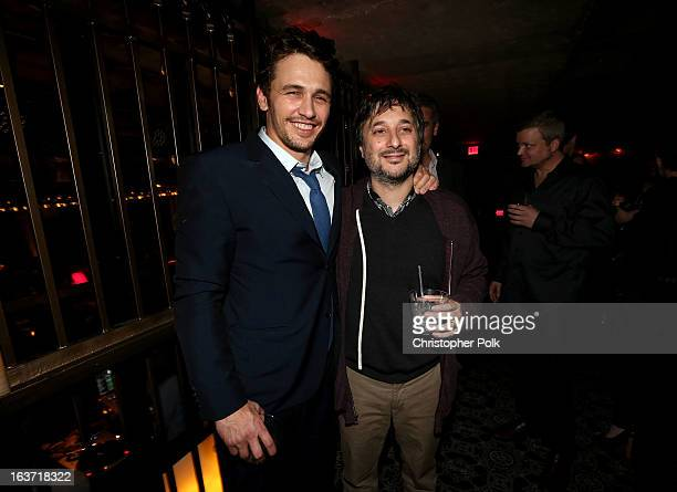 Actor James Franco and Writer/Director Harmony Korine attend the 'Spring Breakers' premiere after party at The Emerson Theatre on March 14 2013 in...