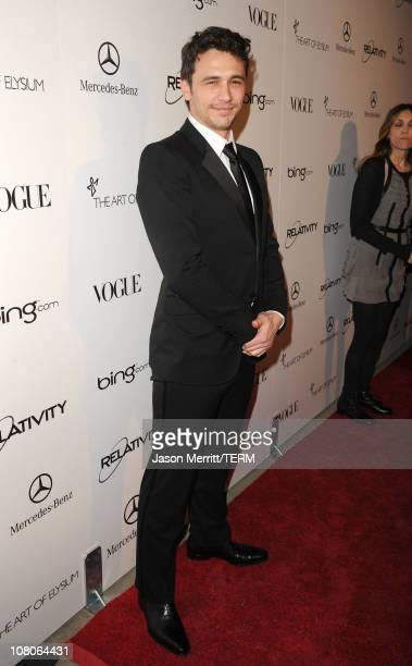 Actor James Franco arrives at the 2011 Art Of Elysium Heaven Gala held at the California Science Center on January 15 2011 in Los Angeles California