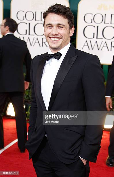 Actor James Franco arrives at the 68th Annual Golden Globe Awards held at The Beverly Hilton hotel on January 16 2011 in Beverly Hills California