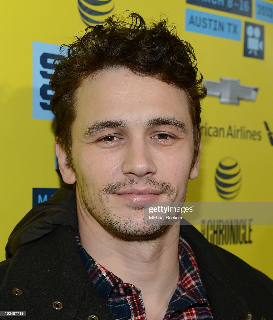Actor James Franco arrives at the premiere of 'Spring Breakers' during the 2013 SXSW Music, Film + Interactive Festival at Paramount Theatre on March 10, 2013 in Austin, Texas.