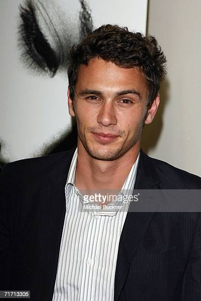 Actor James Franco arrives at the premiere of The Quiet at Sony Pictures Studios on August 24 2006 in Culver City California