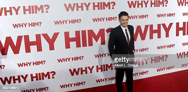 Actor James Franco arrives for the Premiere Of 20th Century Fox's Why Him held at Regency Bruin Theater on December 17 2016 in Westwood California