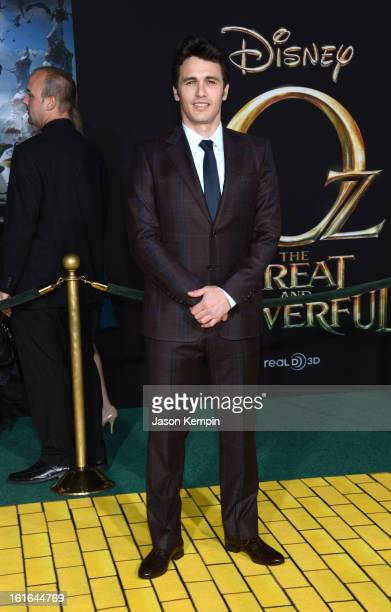 Actor James Franco arrives for the world premiere of Walt Disney Pictures' Oz The Great And Powerful at the El Capitan Theatre on February 13 2013 in...