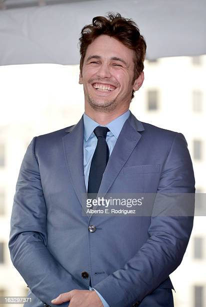 Actor James Franco attends a ceremony honoring him with a star on The Hollywood Walk of Fame on March 7 2013 in Hollywood California