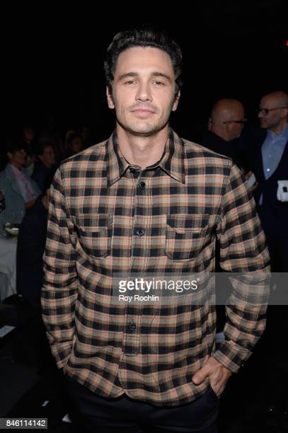 Actor James Franco attends Coach Spring 2019 fashion show during New York Fashion Week at Basketball City Pier 36 South Street on September 12 2017...