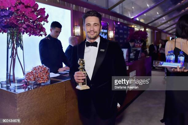 Actor James Franco attends FIJI Water at HFPA's Official Viewing and AfterParty at the Wilshire Garden inside The Beverly Hilton on January 7 2018 in...