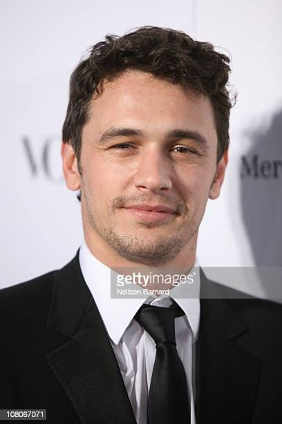 Actor James Franco attends the Art Of Elysium Heaven Gala 2011 at The California Science Center Exposition Park on January 15 2011 in Los Angeles...